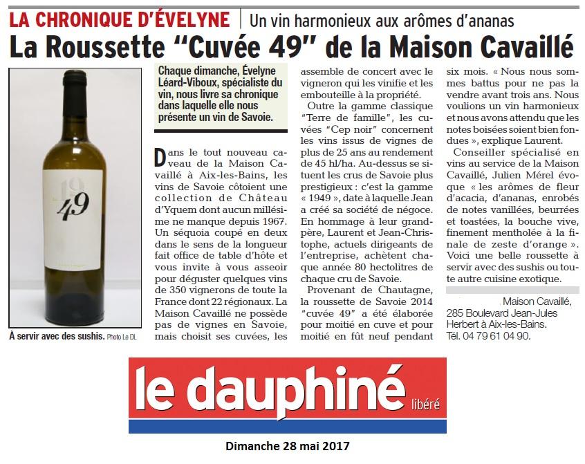 [cml_media_alt id='19589']Le Dauphiné chronique d'Evelyne mai 17[/cml_media_alt]